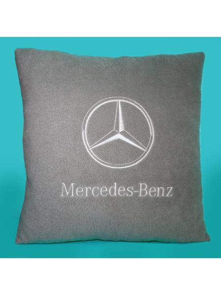 Подушка с вышивкой Mercedes-Benz