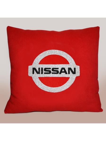 Подушка с вышивкой Nissan