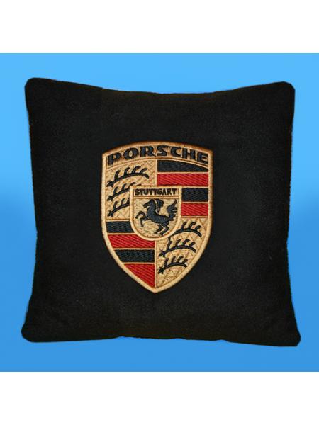Подушка с вышивкой Porsche