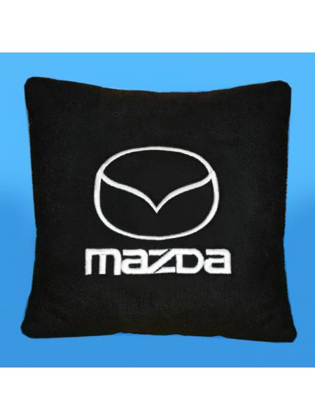 Подушка с вышивкой Mazda