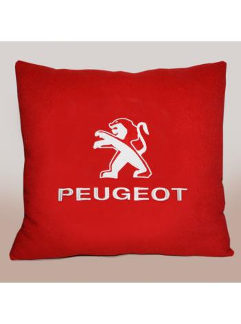 Подушка с вышивкой Peugeot