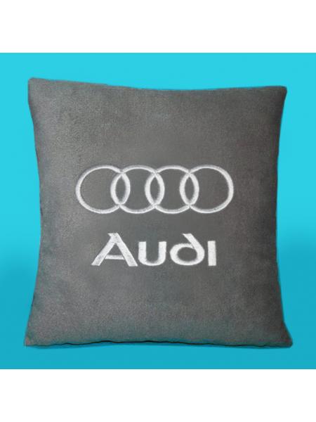 Подушка с вышивкой Audi