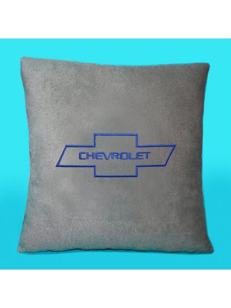 Подушка с вышивкой Chevrolet