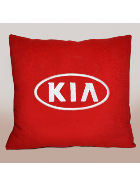 Подушка с вышивкой Kia
