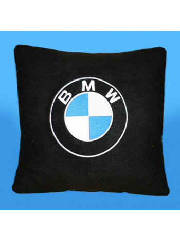 Подушка с вышивкой BMW