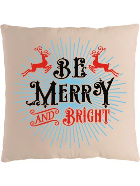 Подушка с новогодним принтом Be Merry and Bright