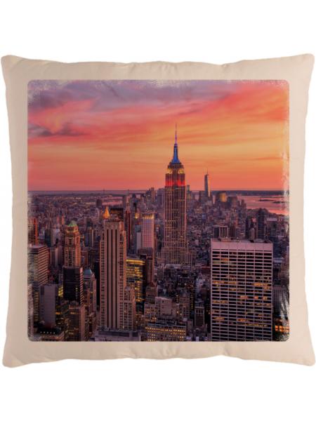 Подушка с фотографией Нью-Йорк