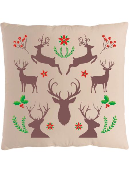 Подушка с новогодним принтом Олени