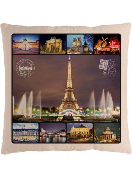 Подушка с фотографией Париж 2