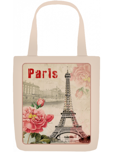 Сумка с принтом Париж 4
