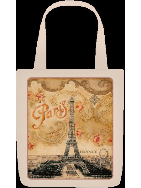 Сумка с принтом Париж 3